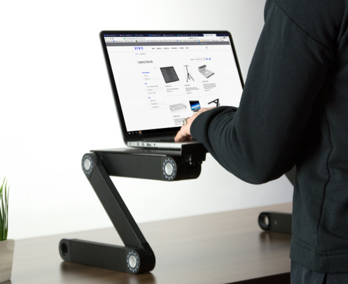 Ergonomic Adjustable Laptop Stand with Built-In Cooling Fan