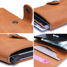 Load image into Gallery viewer, Genuine Leather Stylish RFID-Block Card Holder