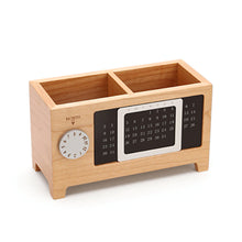 Load image into Gallery viewer, Wooden Desk Organizer With Calendar