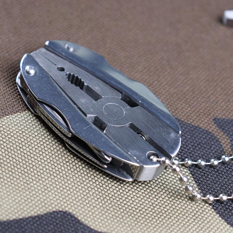 Portable 5-In-1 Multi-function Folding Plier Stainless Steel Knife Keychain
