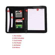 Load image into Gallery viewer, High Quality PU Leather Business Folio Case