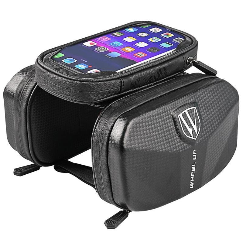 Bicycle Frame Saddle Bag with Touchscreen Phone Pocket