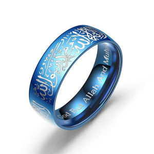 Quran Messenger Titanium Steel Islamic Ring
