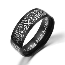 Load image into Gallery viewer, Quran Messenger Titanium Steel Islamic Ring