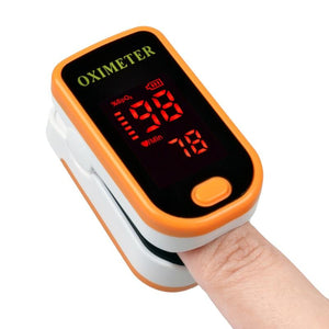 Fingertip Pulse Oximeter - Blood Oxygen Monitor with Case