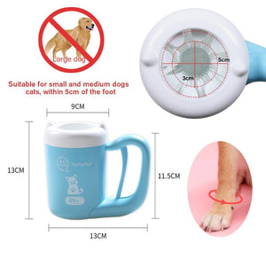 Portable Paw Plunger for Dogs and Cats - Pet Paw Washer