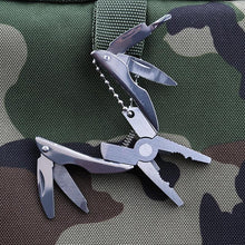 Load image into Gallery viewer, Portable 5-In-1 Multi-function Folding Plier Stainless Steel Knife Keychain