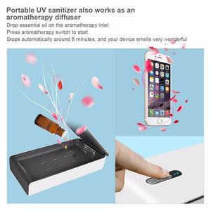 Portable Smart Phone UV Sanitizer With Aromatherapy Function for iOS & Android Phones