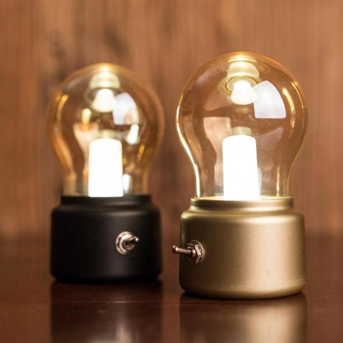 Vintage USB Night Light Edison Bulb