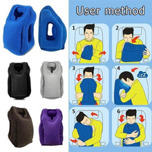 Load image into Gallery viewer, Inflatable Ergonomic Compact Travel Pillow With Head & Neck Support