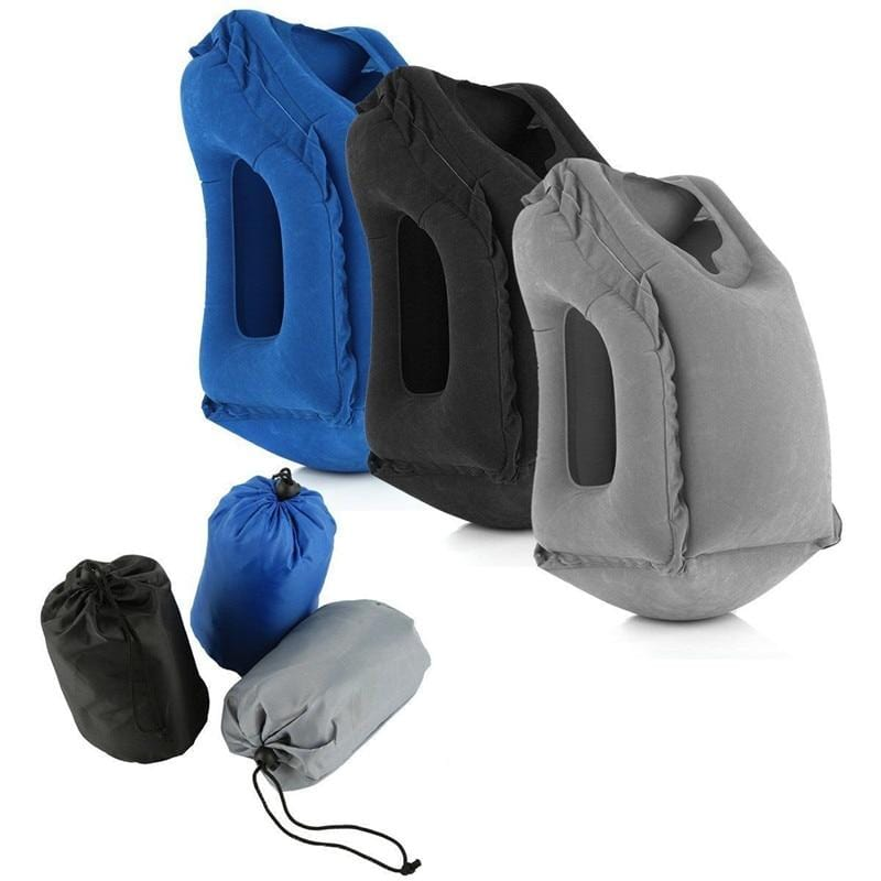 Inflatable Ergonomic Compact Travel Pillow With Head & Neck Support