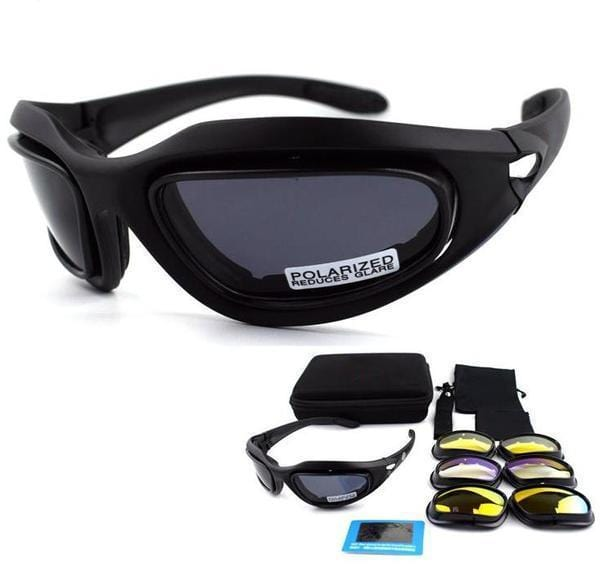 Ultimate Dust-Proof Motorcycle, Sports and Military Glasses (4 Lens Kit)