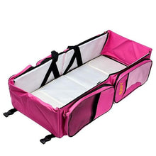 Load image into Gallery viewer, 3-In-1 Travel Baby Bed, Changing Pad and Diaper Bag