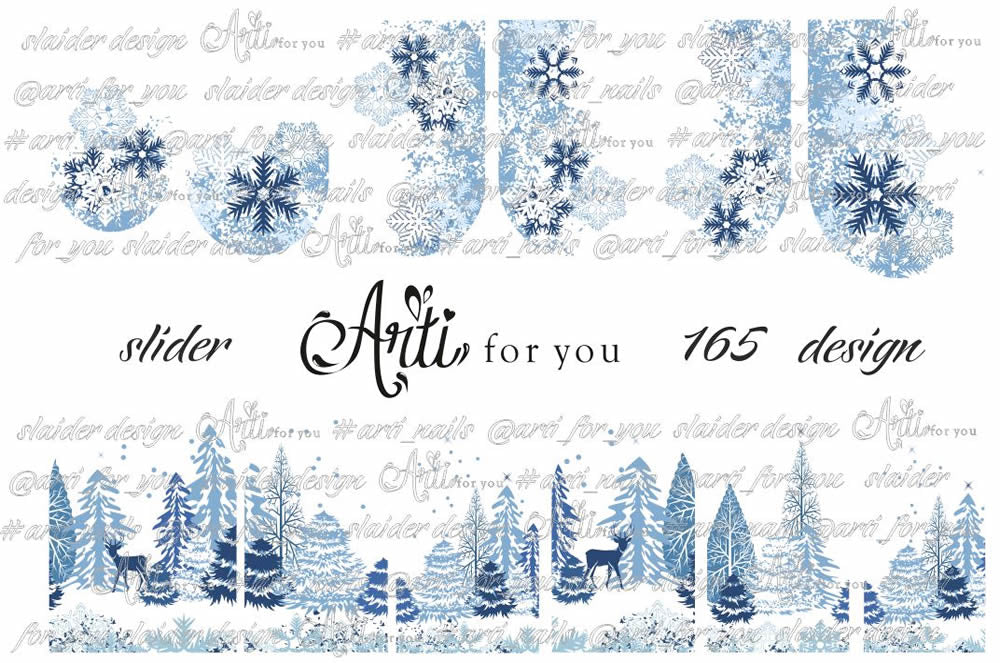 Slider Water Decals - Design 165