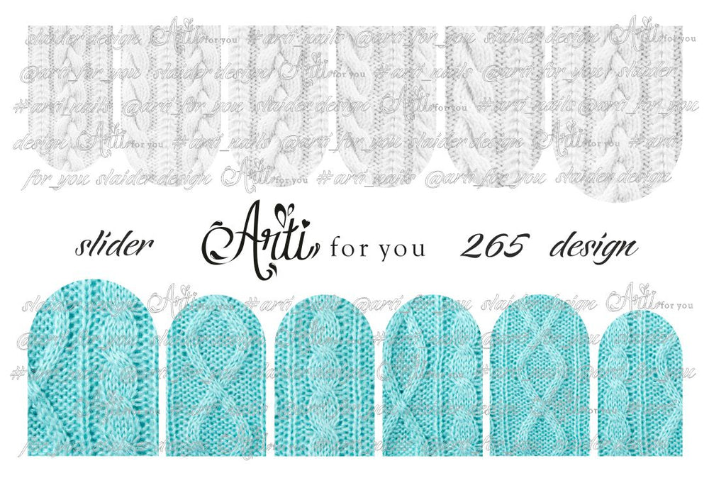 Slider Water Decals - Design 265