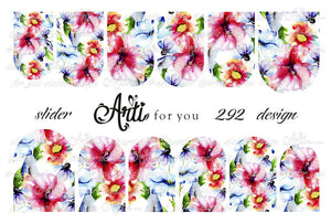 Slider Water Decals - Design 292