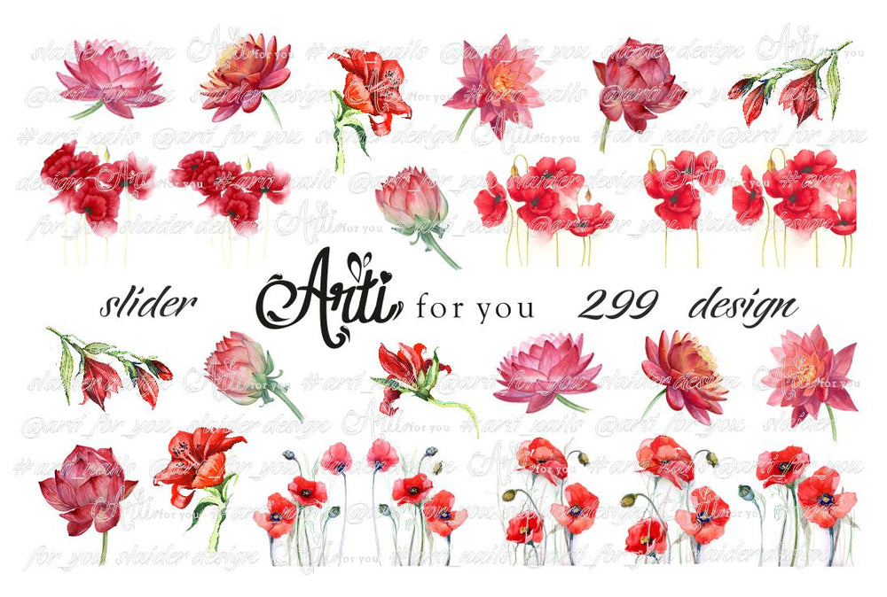 Slider Water Decals - Design 299