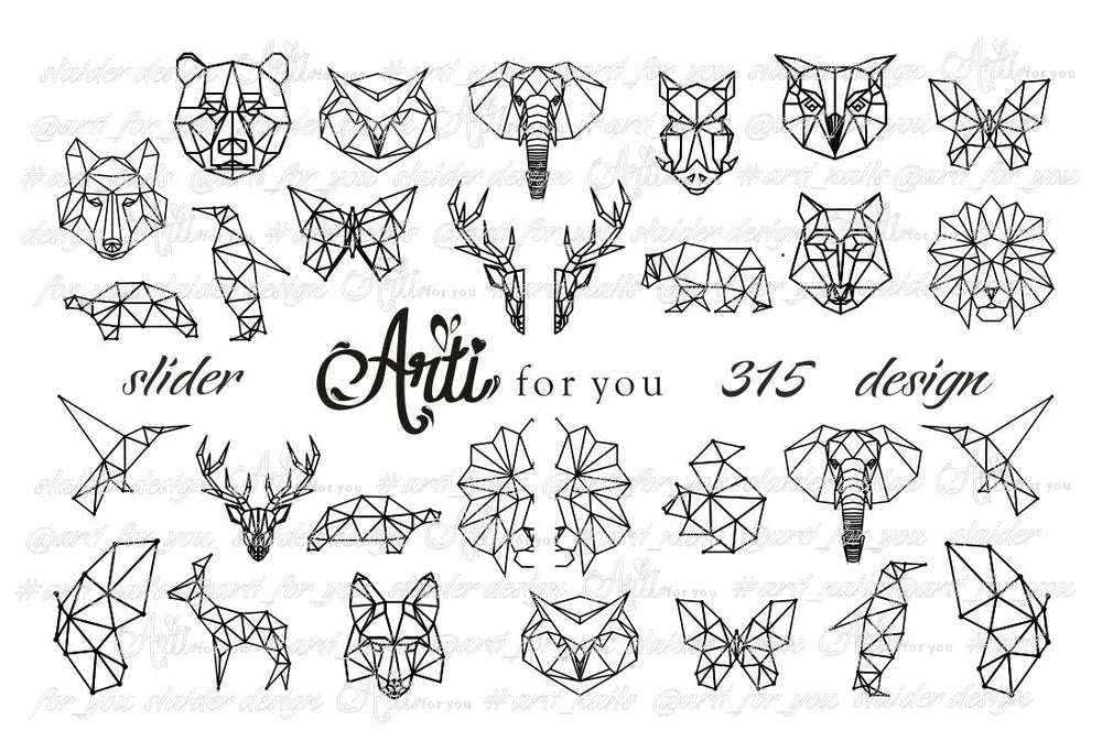 Slider Water Decals - Design 315