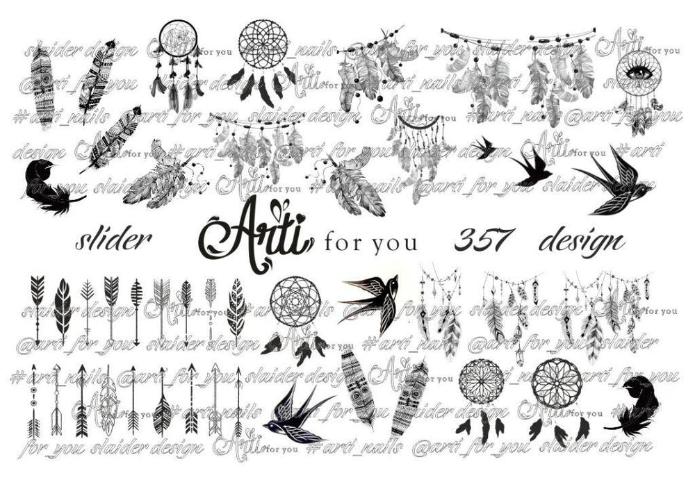 Slider Water Decals - Design 357