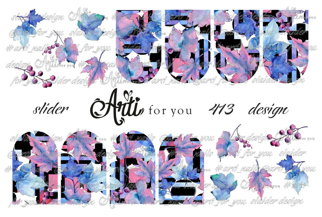 Slider Water Decals - Design 413