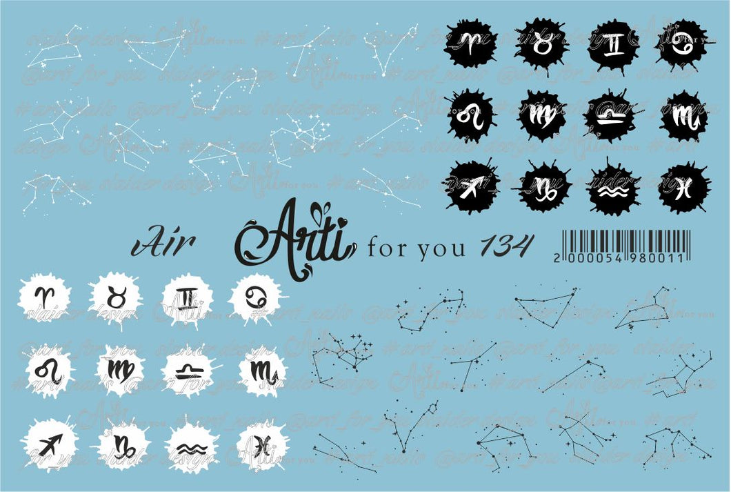 Slider Water Decals - Air 134