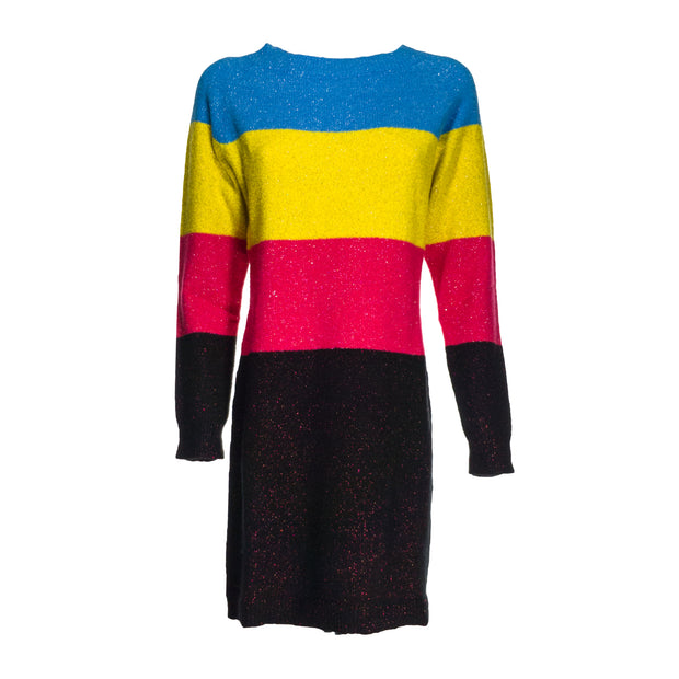 MY TWIN Abito color block in misto lana e lurex - Mancinelli 1954