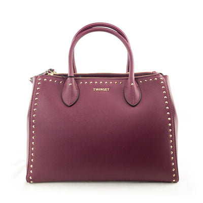 TWINSET Borsa shopper in similpelle con borchie - Mancinelli 1954