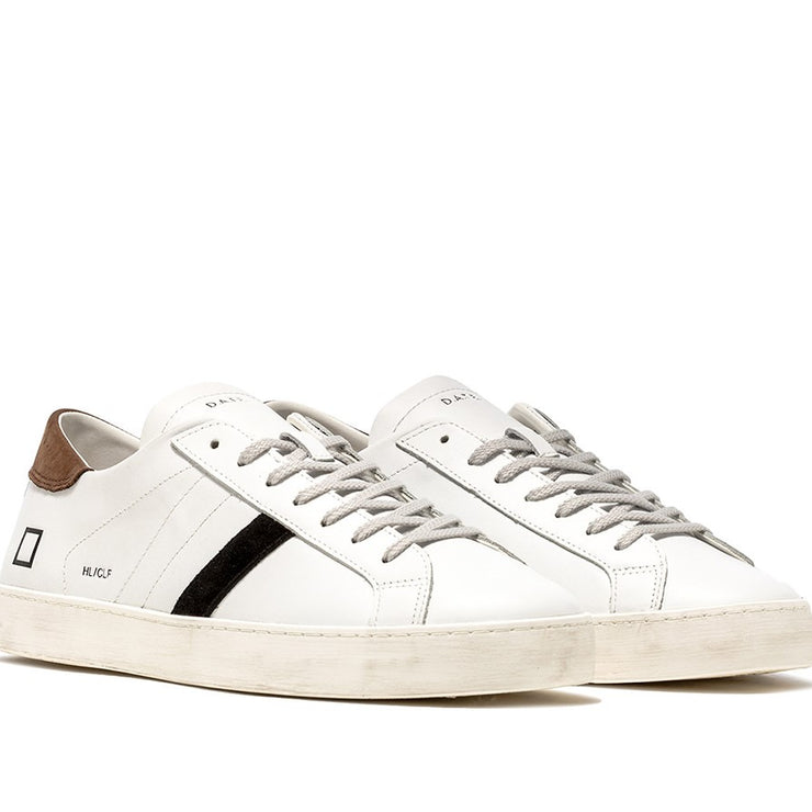 Sneaker bassa hill low calf white-t.moro