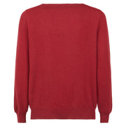 Girocollo bordeaux in puro cashmere