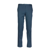 PT TORINO pantalone in cotone stretch satin super slim blu - Mancinelli 1954