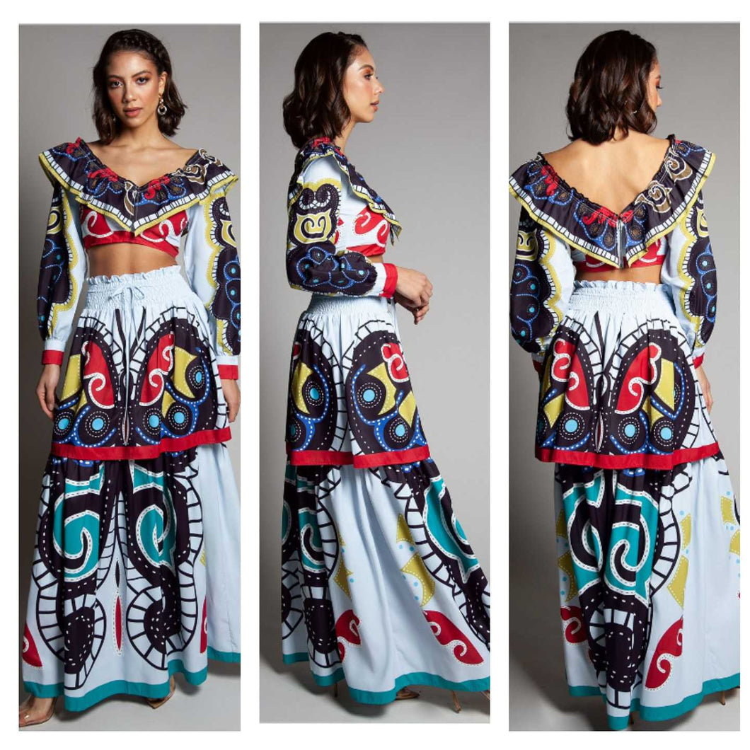 PRINTED BOHEMIAN LOOK SET