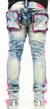 Load image into Gallery viewer, MULTI PINK TAPE JEAN