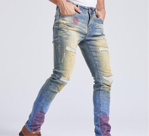 HAND PAINTED RED SPLATTER JEAN