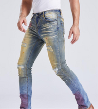 Load image into Gallery viewer, HAND PAINTED RED SPLATTER JEAN