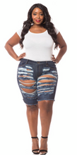 Load image into Gallery viewer, PLUS CURVY SKINNY BERMUDA SHORTS