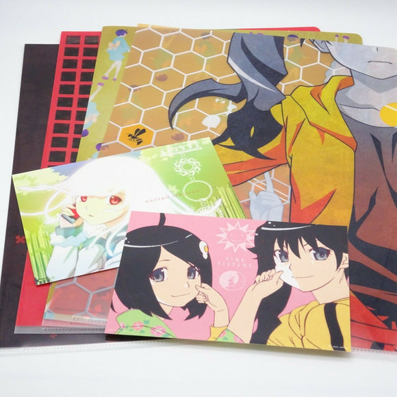 Ichibankuji Anime Monogatari Series 4Clear Files Folder 2stickers Set Design C
