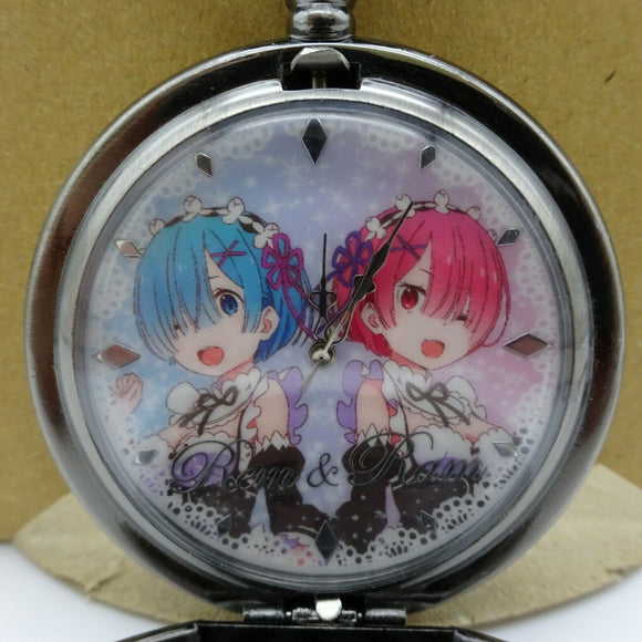 Re:ZERO Pocket watch SILVER Ram&Rem Birthday Memorial ver. Prize 2019