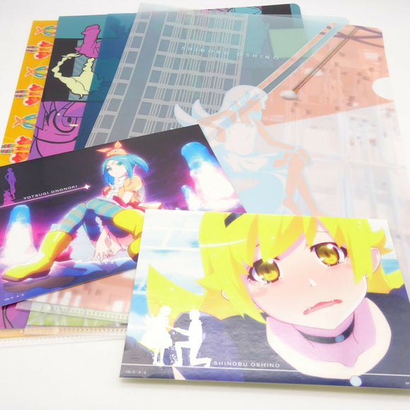Ichibankuji Anime Monogatari Series 4Clear Files Folder 2stickers Set Design B