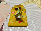 Japanese Handmade Amulet Omamori Good Luck Charm Accessory - Type B / Yellow