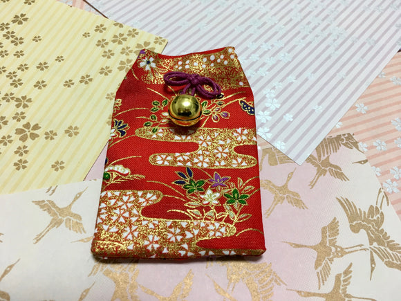 Japanese Handmade Amulet Omamori Good Luck Charm Accessory - Type A / Red