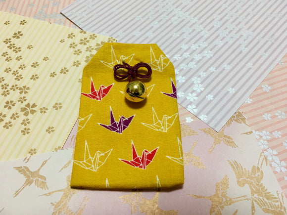 Japanese Handmade Amulet Omamori Good Luck Charm Accessory - Type A / Yellow