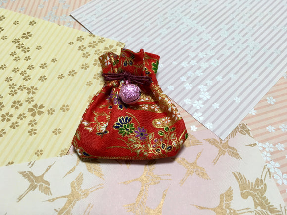 Japanese Handmade Amulet Omamori Good Luck Charm Accessory - Type B / Red