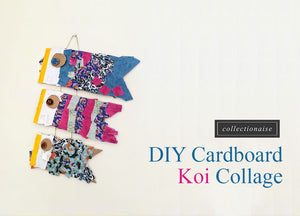 DIY Cardboard Koi Fish Collage [Koinobori]