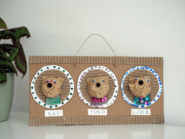 An example of what you could do with the Handmade Cardboard Bunnies
