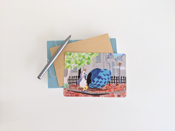 Greeting Card - Delft Blue Heart