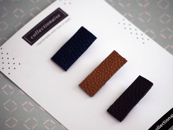 Rectangular Hair Clips (Set of 3)