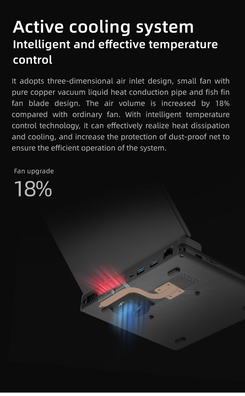 One Netbook A1 - Showcasing Cooling