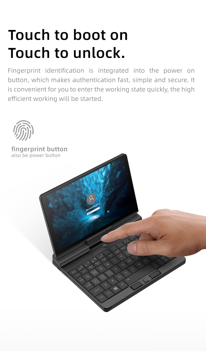 One Netbook A1 - Windows Hello Feature
