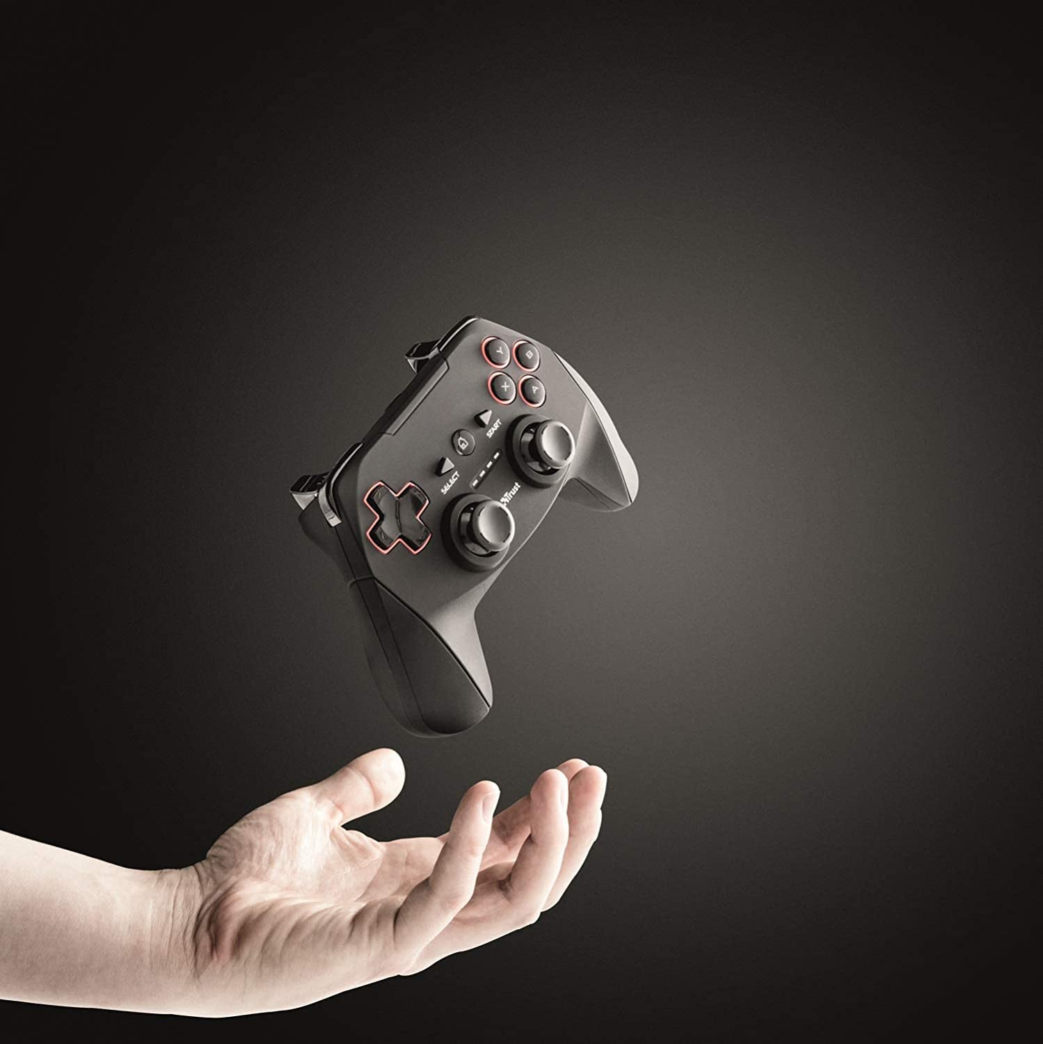 DroiX R1 Gamepad for Play Station 3, PC, RetroPie Gaming Console - Showing Controller being thrown in air