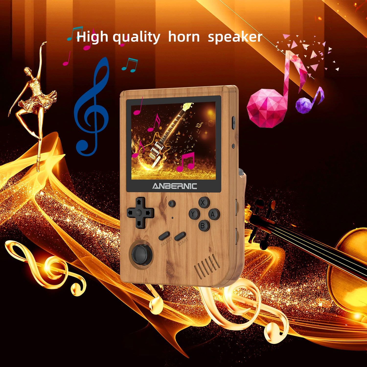 ANBERNIC RG351V Retro Gaming Handheld - Showing High-Quality Speakers